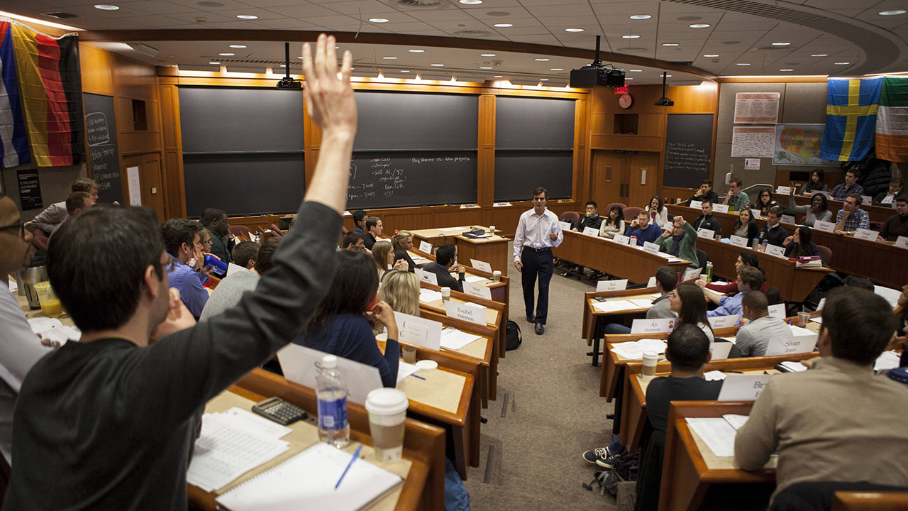 Anderson Classroom About Us Harvard Business School