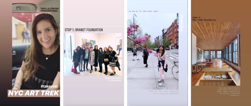 Instagram Takeover - Arts Society Trek in NYC