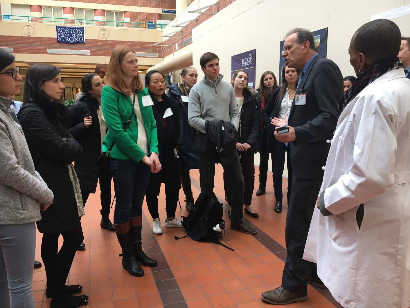 Students Tour Boston Medical Center